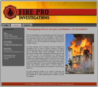 Fire Pro Investigation home page